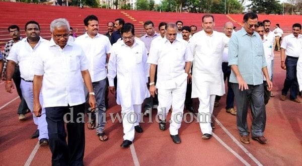 Mangaluru: Athletics Federation Cup – Parameshwar inspects Mangala Stadium