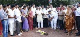Foundation laid for Kadri Park entrance