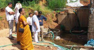 Mangaluru: MLA J R Lobo inspects flooding at Bajal underpass