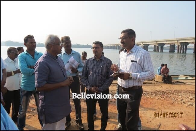 Mangaluru: MLA Lobo holds survey for proposed highway along Netravati River to Kannur