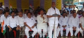 Mangaluru: Congress protests against Land Acquisition bill