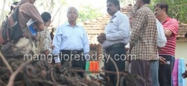 MLA JR Lobo inspects Gujjarakere lake development works