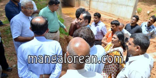 MLA Lobo Visits Jeppu Kudupady to Review Railway Underpass work